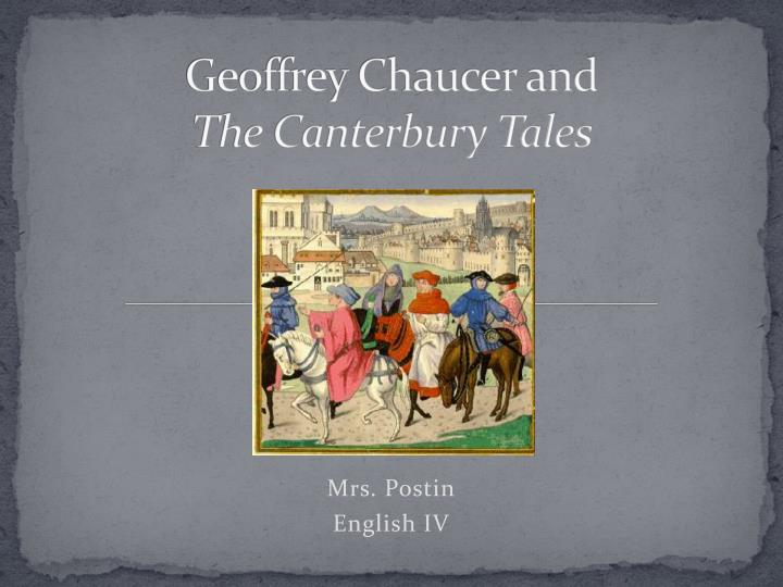 geoffrey chaucer used science of physiognomy in the canterbury tales