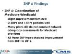 snp 6 findings