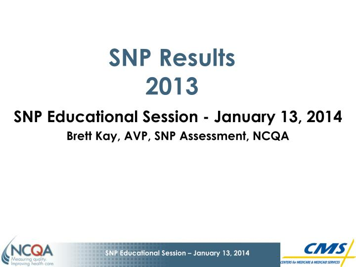 snp results 2013 n.