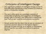 criticisms of intelligent design