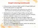 graph coloring continued5