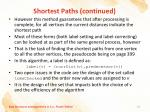 shortest paths continued1