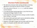shortest paths continued2