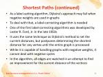 shortest paths continued5