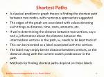 shortest paths