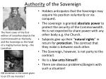 authority of the sovereign