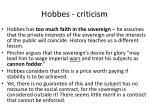 hobbes criticism