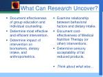 what can research uncover
