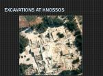 excavations at knossos