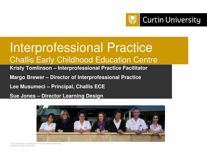 interprofessional practice challis early childhood education centre n.