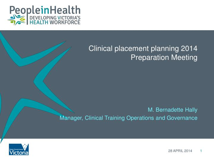 clinical placement planning 2014 preparation meeting n.