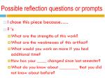 possible reflection questions or prompts
