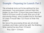 example preparing for launch part 27