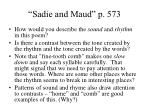 sadie and maud p 573