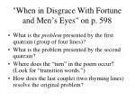 when in disgrace with fortune and men s eyes on p 598