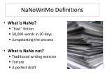 nanowrimo definitions