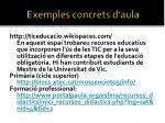 exemples concrets d aula