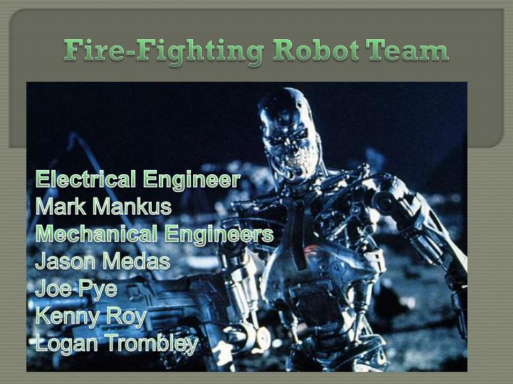 fire fighting robot team n.
