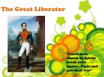 the great liberator
