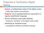 properties in verification digital setting