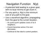 navigation function n p