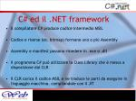 c ed il net framework