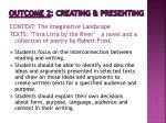 outcome 2 creating presenting1