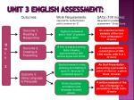 unit 3 english assessment