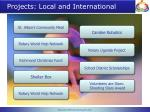 projects local and international