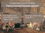 comparing locke hobbes views toward human nature