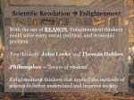 scientific revolution enlightenment
