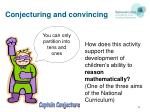 conjecturing and convincing