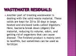 wastewater residuals