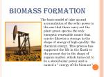 biomass formation