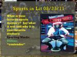 sports in lit 08 23 11