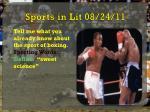 sports in lit 08 24 11