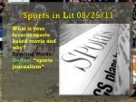 sports in lit 08 25 11