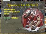 sports in lit 08 26 11