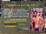 sports in lit 08 29 11