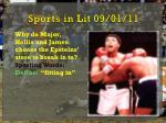 sports in lit 09 01 11