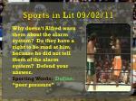 sports in lit 09 02 11