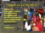 sports in lit 09 06 11