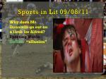 sports in lit 09 08 11