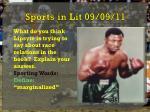 sports in lit 09 09 11