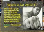 sports in lit 09 12 11