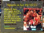 sports in lit 09 15 11