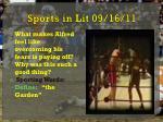 sports in lit 09 16 11