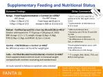 supplementary feeding and nutritional status
