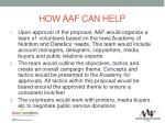 how aaf can help