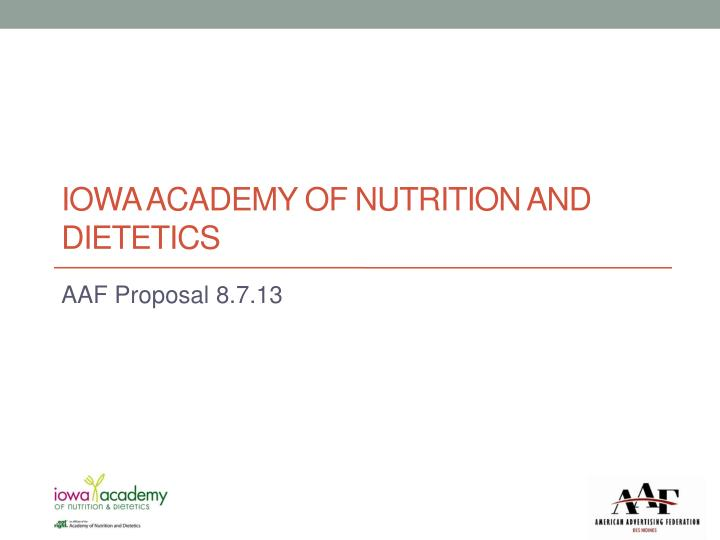 iowa academy of nutrition and dietetics n.